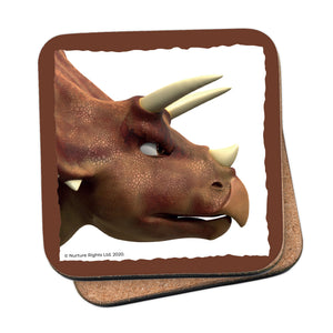 Dinosaur Roar Stomp Head Shot Coaster