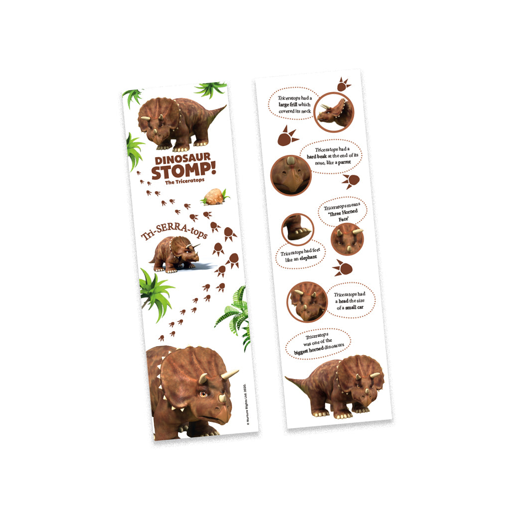 Dinosaur Stomp The Triceratops Bookmark