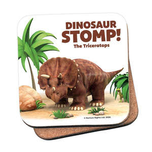 Dinosaur Stomp The Triceratops Cork Coaster