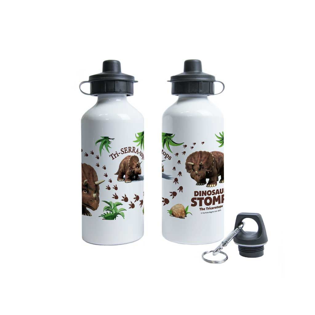 Dinosaur Stomp The Triceratops Water Bottle