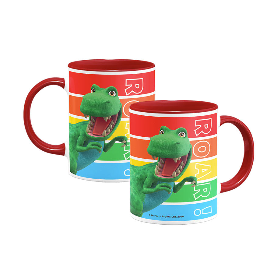 Dinosaur Roar Stripes Coloured Insert Mug