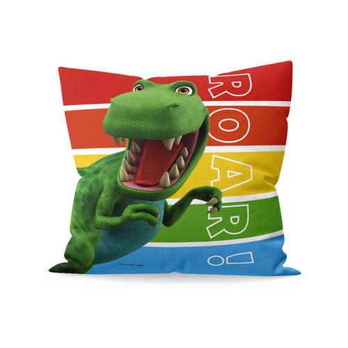 Dinosaur Roar Stripes Cushion