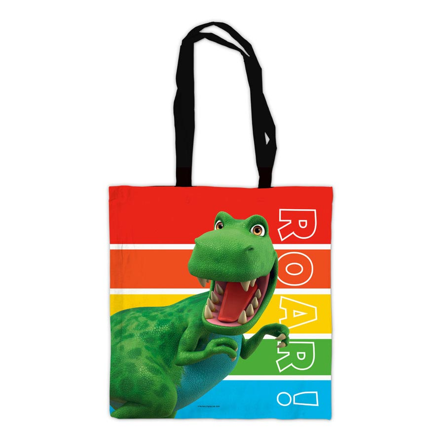 Dinosaur Roar Stripes Tote Bag
