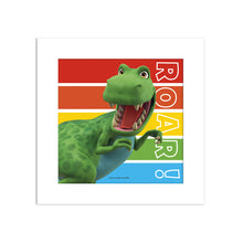 Load image into Gallery viewer, Dinosaur Roar Stripes Art Print