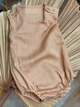 Collaroy Linen Romper- Golden Sand