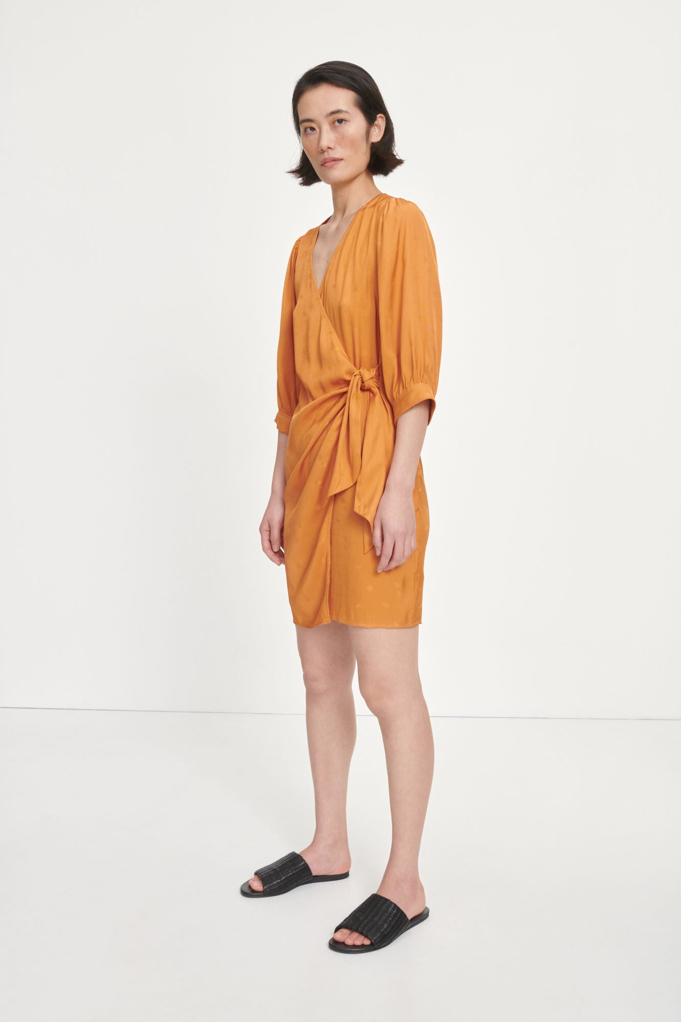 Samsoe Samsoe celestina wrap dress