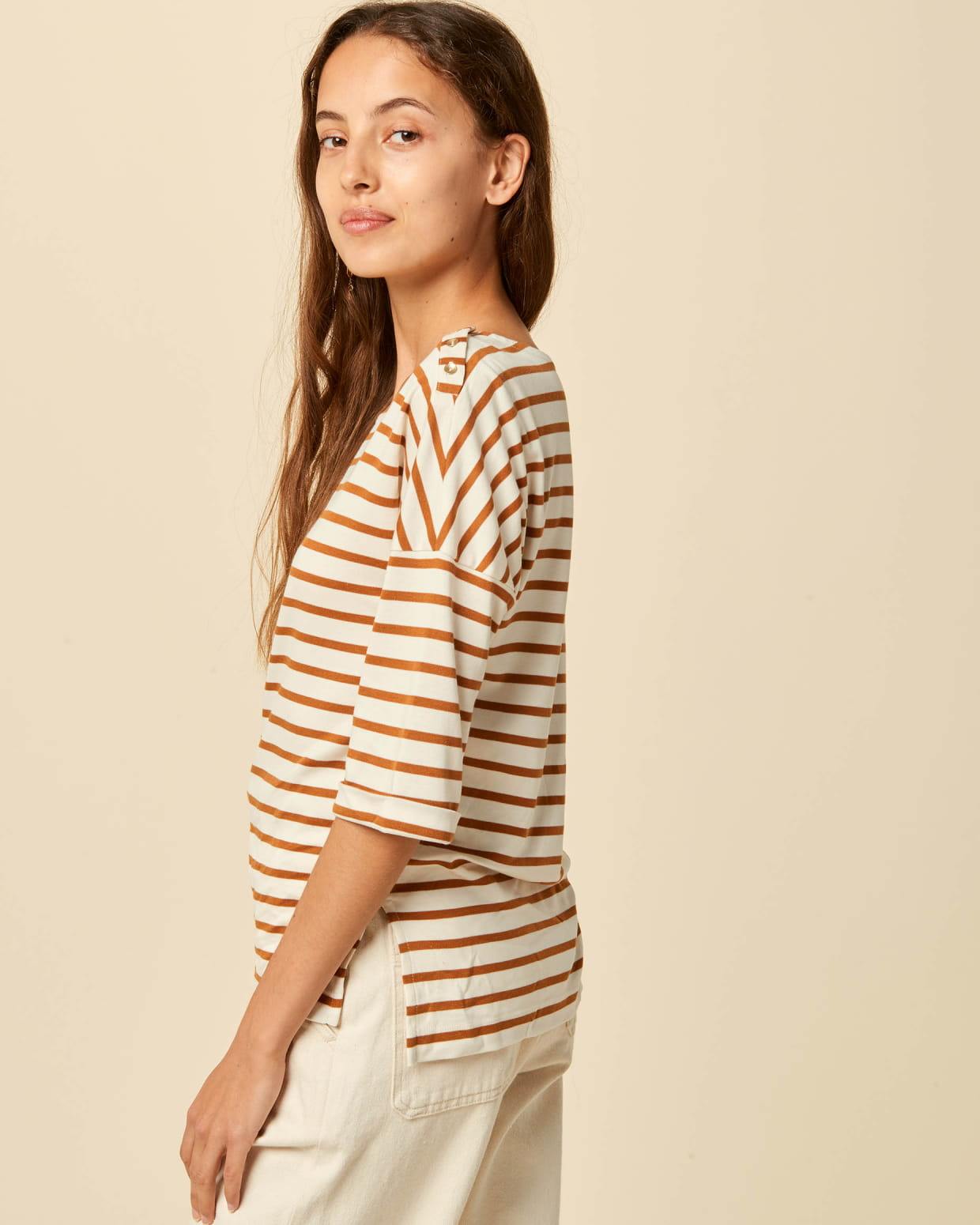 Sessun sailor-striped top