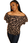 FEEL THE BREEZE CHEETAH PRINT SHIRT - Shop Lashae Boutique