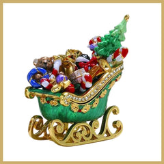 Bejeweled Enamel Trinket Boxes