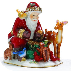 Santa With Animal Box