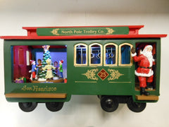 Musical Cable Car W/Santa