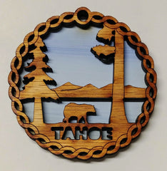 Tahoe Wooden Ornament
