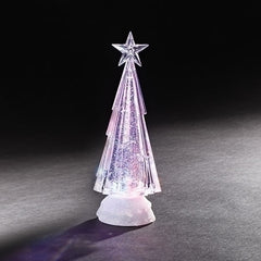 LED Swirl Chiseled Tree, 9.5