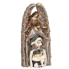Nesting Holy Family With Angel, 11