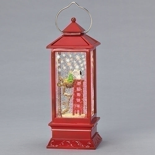LED Swirl Lantern, Snoopy On Ladder, 11""