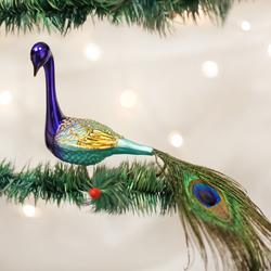 Magnificent Peacock Clip On Ornament
