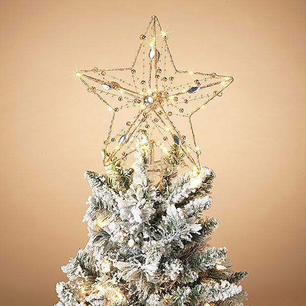 "Lighted Star Tree Topper, 13"" H"