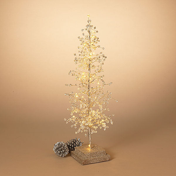 "Lighted Acrylic Tree w/ 30 Lights,24"" H"