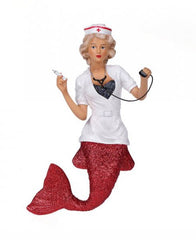 December Diamonds Nurse Naughty Mermaid Ornament