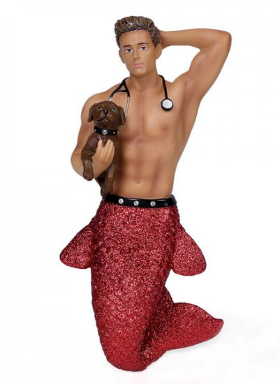 December Diamonds Dr. Pet-A-Vet Merman Ornament