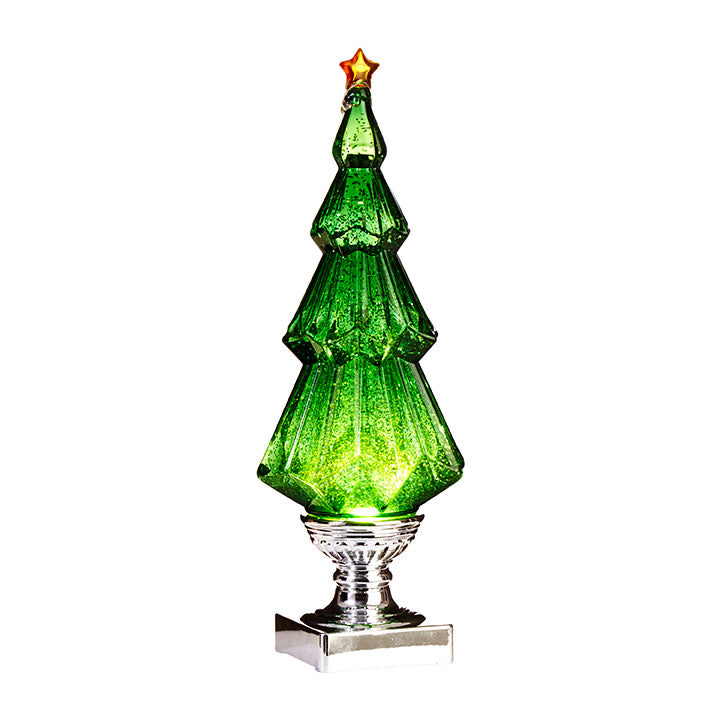 Lighted Tree With Swirling Glitter, 13.75""