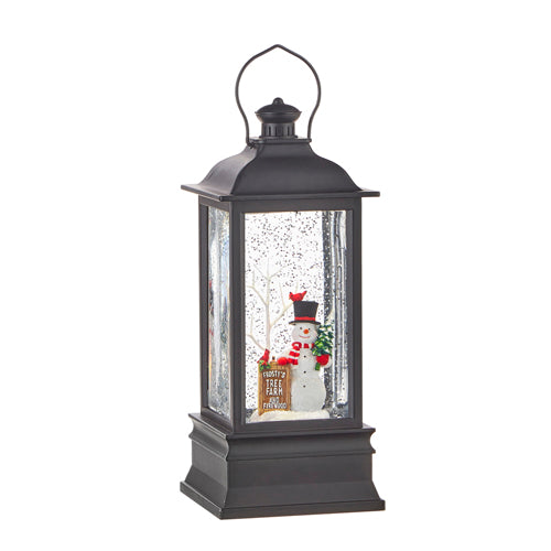 Frosty's Tree Farm Musical Lighted Water Lantern, 8.75""