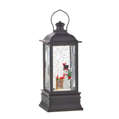 Frosty's Tree Farm Musical Lighted Water Lantern, 8.75