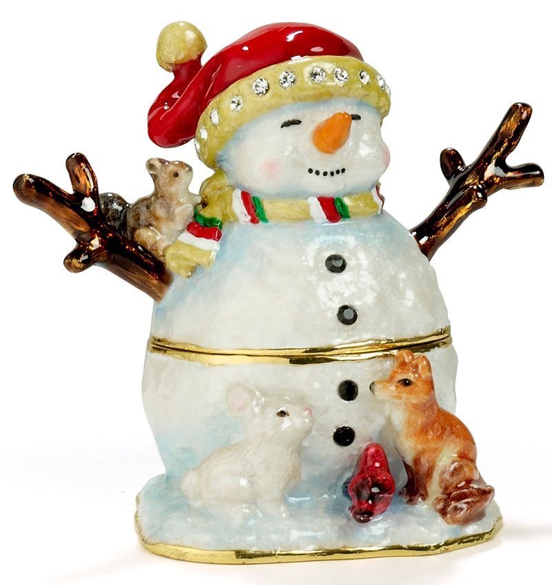 Snowman with Animals Box