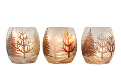 Stony Creek Glass Lighted Vase Votive 3