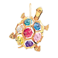 Turtle 24K Gold-Plated W/ Swarovski Crystal