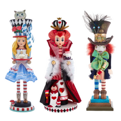 Alice and Wonderland Hollywood Nutcrackers - Set of 3