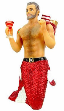 December Diamonds Santa Daddy Merman Ornament