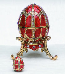 Red Egg Box with Pendant & Stand