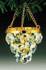 Chandelier Orn. 24K Gold Plated W/Swarovski Crystal