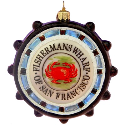 European Glass San Francisco Fishermans Wharf Ornament