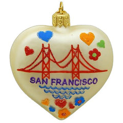European Glass San Francisco Heart Ornament