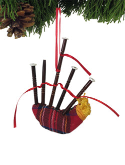 Red Bagpipe Ornament