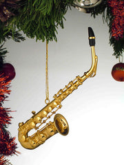 Gold Saxophone Ornament