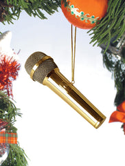 Gold Microphone Ornament