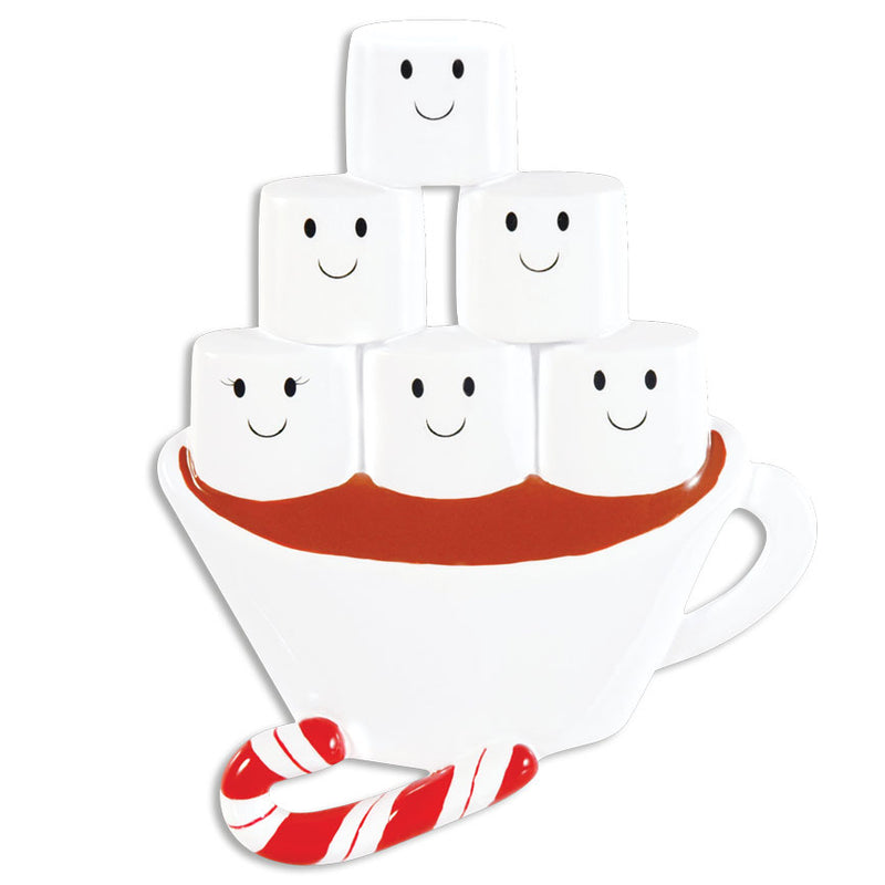 Hot Chocolate Family Of Five Ornament