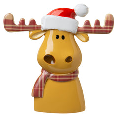 Reindeer W/plaid Antlers Ornament