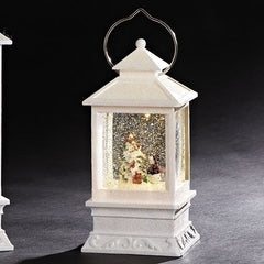 LED Lighted Lantern W/Snowman and Tree, 8.5
