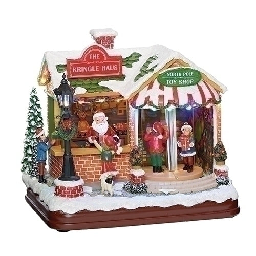Musical LED Lighted Kringle Haus, 8""