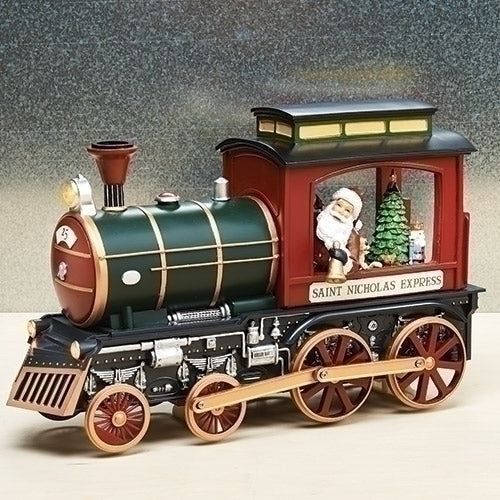 Musical LED Lighted Train W/Santa 14.25""