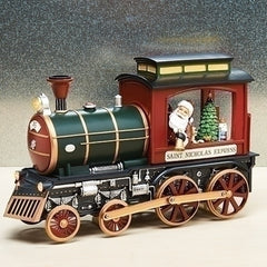 Musical LED Lighted Train W/Santa 14.25