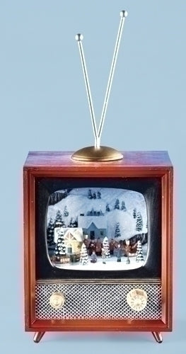 Musical LED TV W/Revolving Train 5.5""