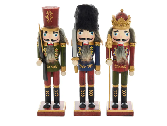 Hollywood Wooden King and Soldiers Nutcrackers, 10""