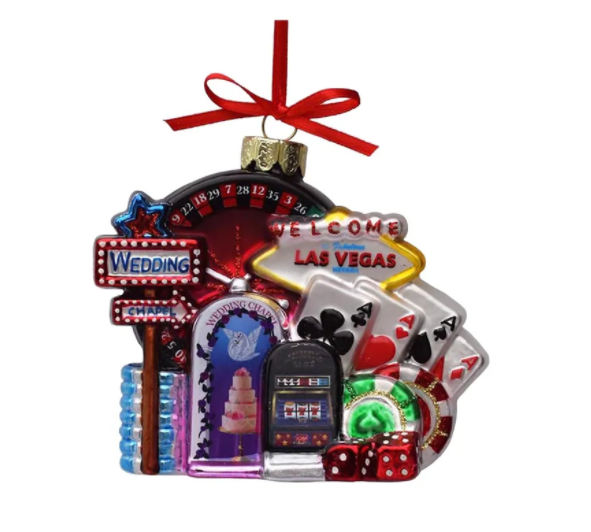 Glass Las Vegas Cityscape Ornament, 5""