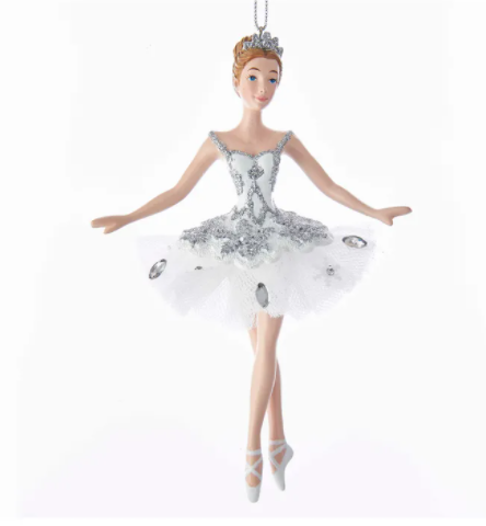 Snow Queen Ballerina Ornament, 5.75""