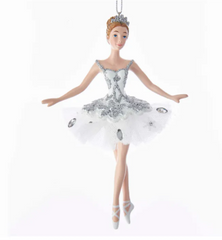 Snow Queen Ballerina Ornament, 5.75